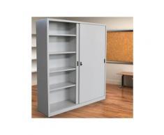 Armadio in Metallo Ufficio per Archiviazione ad Ante Scorrevoli Dim. 180x45x250h