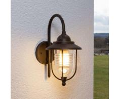Lanterna Meret, ruggine, da parete, per esterni