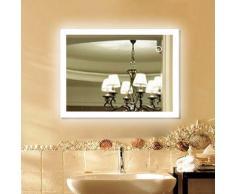 Specchio da Bagno Illuminazione a LED per specchi da Parete per Bagno con Funzione Anti-Nebbia,