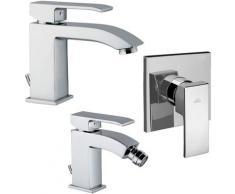 Set di miscelatori da bagno Paffoni Level lavabo, bidet e doccia