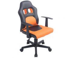 Sedia da scrivania per bambini nero/arancio