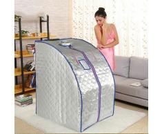 ®Sauna a infrarossi,Box sauna confortevole-Silver,Con 4 piastre riscaldanti (standard