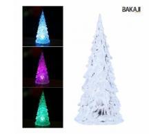 Albero Di Natale Altezza 22,5Cm Acrilico Con Illuminazione Led Cambia Colore