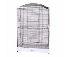 Voliera gabbia per uccelli pappagalli L 118 x B 75 x H 175 cm