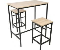 Skecten - Set 3 Pezzi Tavolo con 2 sgabelli, Set di mobili da Balcone