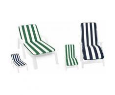 Cuscino sdraio pieghevole morbido copri seduta lettino prendisole casa giardino 60X190