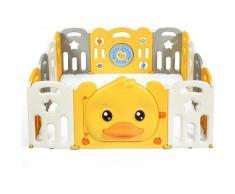 Costway - Box Recinto per Bambini da Giocare, Pieghevole con 14 Pannelli, con Porta e Giochi