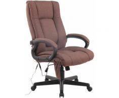 Sedia ufficio Sparta XL massaggiante in tessuto Marrone