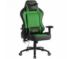 Sedia Gaming Rapid XM Massaggiante In Similpelle Nero/verde