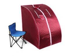 Cabina Home Sauna,Sauna Portatile,Personale Spa Detoxify Perdere Peso 98 x 70 x 80 cm 1.8L Rosso