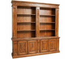 Libreria Credenza in Legno massello con Ripiani Mensole per Soggiorno Ufficio