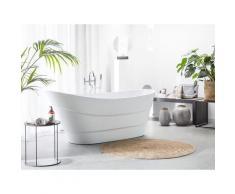 Vasca da bagno freestanding ovale bianca BUENAVISTA