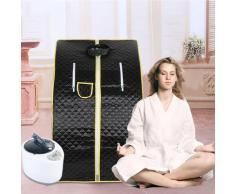 Cabina Home Sauna,Sauna Portatile,Personale Spa Detoxify Perdere Peso 98 x 70 x 80 cm 1.8L Nero
