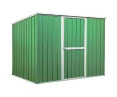 Casetta Box Da Giardino In Lamiera Verde Per Deposito Attrezzi 260x185x192cm Enaudi