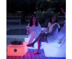 Tavolino con altoparlante e portabottiglie BATTERIA RICARICABILE (USO INTERNO ED ESTERNO) - Moovere