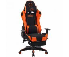 Poltrona Gaming Massaggiante Turbo XFM in Tessuto Nero/arancione
