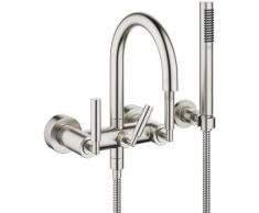 Dornbracht Tara miscelatore per vasca da bagno per montaggio a parete con set doccia, sporgenza 240