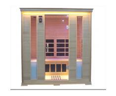 Sauna Finlandese Ad Infrarossi 4 Posti 188x148 Cm In Hemlock Canadese H188 Vorich Luxury Eco