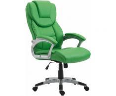 Sedia da ufficio XL Texas V2 in similpelle Verde
