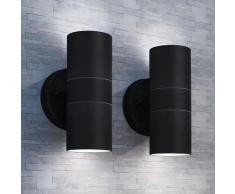 Lampade da Parete Esterno 2 pz Acciaio Inox Proiezione Alto/Basso - Vidaxl