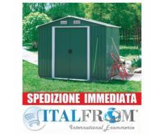Box Casetta Casette Rimessa Ripostiglio Garage Auto per Giardino Lamiera Zincata 196X258X201 H