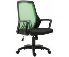 Sedia da Ufficio CLEVER Nero/verde