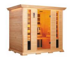Sauna Finlandese Ad Infrarossi 3-4 Posti 210x160 Cm In Legno Di Cedro H195 Vorich Luxury