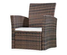 Poltrona reclinabile Poltrona da giardino sedia a balcone marrone poltrona reclinabile poltrona