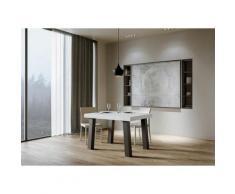 Itamoby S.r.l. - Tavolo Bridge Allungabile piano Bianco Frassino 90x130 allungato 390 telaio