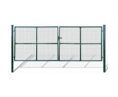 Cancello a Rete per Giardino 415 x 200 cm / 400 x 150 cm - Verde - Youthup