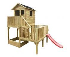 Milani Home - JEJE - casetta in legno per bambini con scivolo