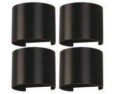 Faretto a parete per esterni a LED 4x effetto lampade UP DOWN ala regolabile nero