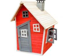 Wiltec - Casetta giocattolo ecologica per bambini in legno di abete rosso Casa di legno Giardino