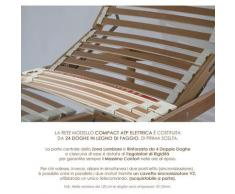 Qualydorm Rete letto singolo in legno 85x200 h52 cm 24 Doghe Faggio Oscillanti Alzata Elettrica