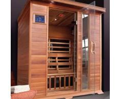 Sauna a Infrarossi in cedro rosso per 3 persone 120x150 | Black