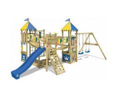 No_brand - WICKEY Parco giochi in legno Smart Queen Giochi da giardino con altalena e scivolo blu