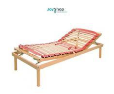 Rete per ogni tipo di materasso a doghe in legno con alza testa e alza piedi a movimento manuale
