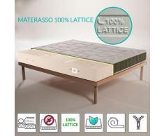 Materasso 100% lattice a 7 zone differenziate con tessuto trapuntato Aloe Vera alto 22 cm - JUPITER