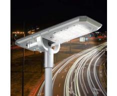 Lampione Led a Energia Solare 2000 Lumen con Pannello Solare e Sensori Atlas