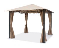 Gazebo da Giardino 3x3 m - PREMIUM 100% impermeabile - con 4 teli laterali - ca. 220g/m² telo del