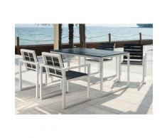 Set Da Giardino Tavolo E 4 Sedie In Alluminio Quick - Ranieri