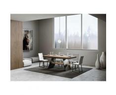 Itamoby S.r.l. - Tavolo Baita Evolution allungabile piano quercia 90x160 allungato 264 telaio
