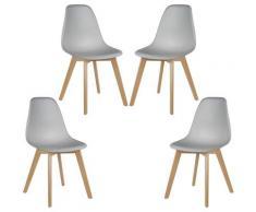 Sedie da Pranzo Imbottito/ufficio con Faggio Wooden Legs Soggiorno, Sala da Pranzo, Caffè Negozi,