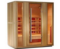 Sauna a Infrarossi in Legno Hemlock per 4 persone 175x120 | Tris