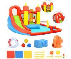 Happy Hop Gonfiabile Bambini Scivolo e Piscina 410x385x220 cm in PVC