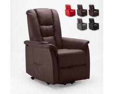 Le Roi Du Relax - Poltrona relax reclinabile sistema alzapersona in similpelle design JOANNA FIX |