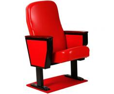 Coprisedia in pelle PU Protezione rimovibile per sedia per cinema Meeting Home Office,rosso