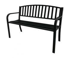 Panchina da giardino con struttura in acciaio verniciato 119x50x75h