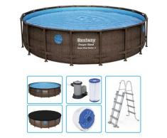 Piscina Fuori Terra Bestway Power Steel Swim Vista Oblo 5,49 X H.1,22 M - Kit Base