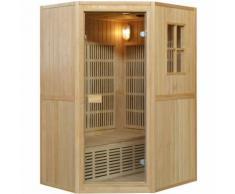Essence Arredo Bagno - Sauna Combinata in Legno per 2 persone 125x110 | Angle